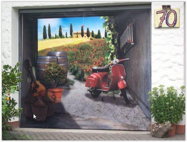 Garagentorbilder  3D-Garagentor-Folien - Garagenhandel.de